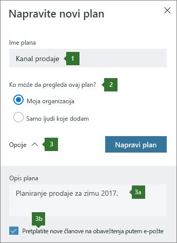 Pravljenje novog plana
