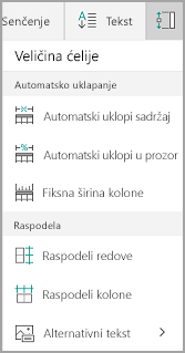 Opcije automatskog uklapanja Windows Mobile