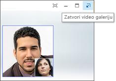 Snimak ekrana uskačuće video galerije