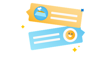 Ilustracija lupu i kontakt kartice