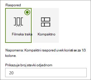 Izbor rasporeda u događaje Veb segment okno svojstava.