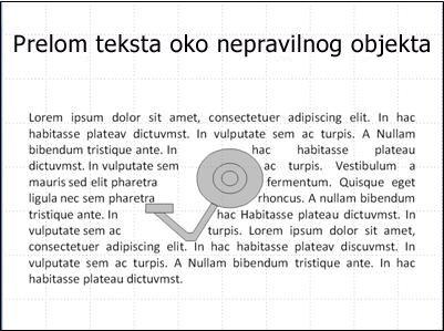 Slajd sa slikom koju ne prekriva tekst