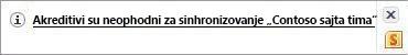 Sinhronizacija upozorenja na Windows sistemskoj traci poslova