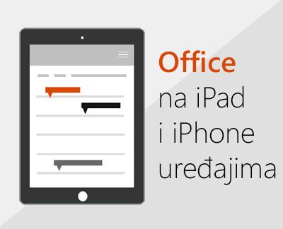 Kliknite da biste postavili Office aplikacije na iOS uređaju