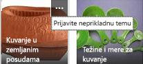Kliknite na komandu Više (…) u gornjem desnom uglu bilo koje stavke da biste je prijavili kao neprikladan sadržaj.