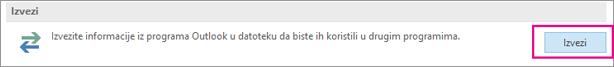 """Na stranici """"Više opcija"""" odaberite stavku """"Izvoz"""""""