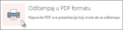 Štampanje slajdova u PDF formatu