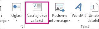 Nacrtaj okvir za tekst