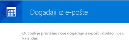 Outlook može da kreira događaje iz vaših e-poruka