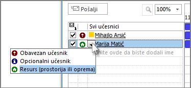 """Kliknite na ikonu levo od imena, a zatim izaberite stavku """"Resurs"""""""