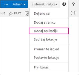 Dodaj aplikaciju (listu, biblioteku)