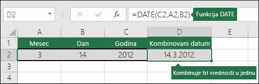 2. primer funkcije DATE