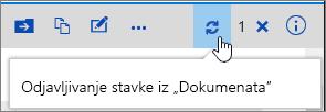 Odjavljivanje beleške sa istaknutom ikonom