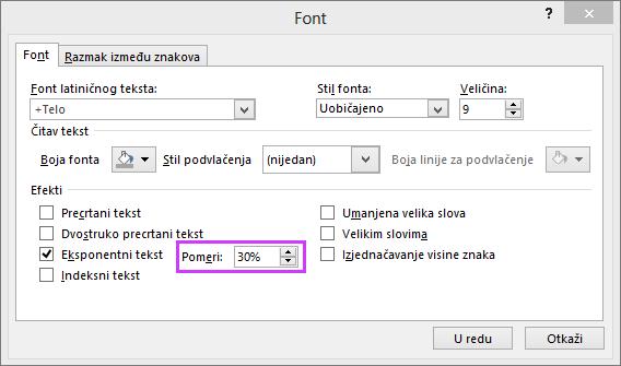 "Prikazuje dijalog ""Font"" u programu PowerPoint"