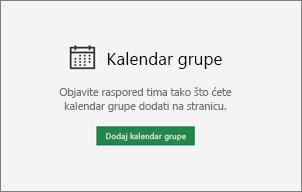 Dodavanje kalendara grupe