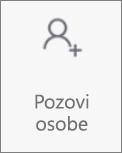"""Dugme """"Pozovi osobe"""" u usluzi Android za Android"""