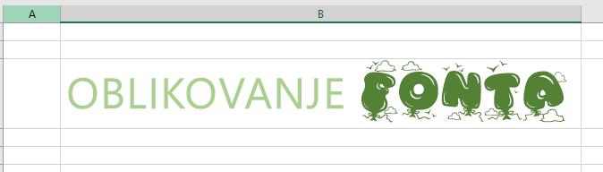 Korišćenje fonta obogaćenog teksta za više tipova oblikovanja teksta