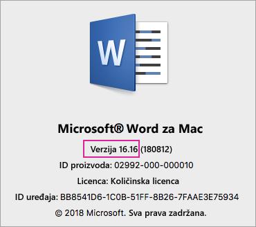 VL 2016 - O programu Word