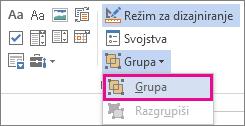 kontrole grupe režima projektanta