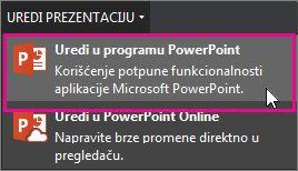 Uređivanje u programu PowerPoint za računar