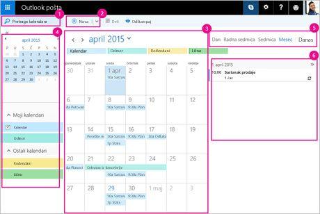 Koristite kalendar kako biste upravljali sastancima i drugim događajima.
