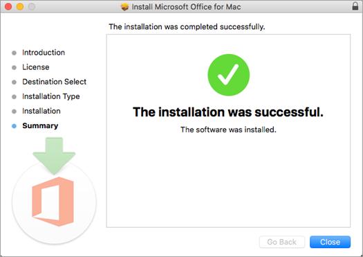 Prikazuje poslednju stranicu procesa instalacije koja označava da je instalacija uspešno završena.