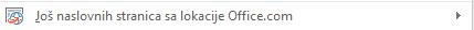 Više rasporeda naslovne stranice je dostupno na lokaciji Office.com.
