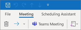 Dodavanje sastanka timova u poziv za sastanak u programu Outlook