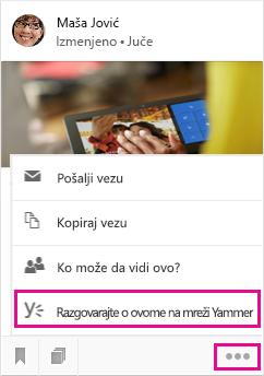 Kliknite da biste otvorili Yammer