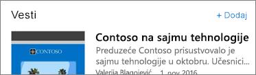 """Snimak ekrana koji prikazuje opciju """"Dodaj povezivanje"""""""