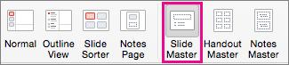 PPT for Mac Slide Master Command