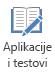 """Dugme """"aplikacije i kvizove"""" na kartici """"snimanje"""" u programu PowerPoint 2016"""