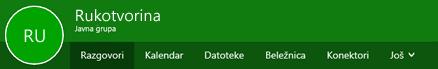 Grupe trake u programu Outlook na Vebu