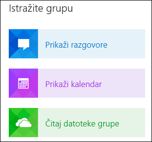 Explore a group in Outlook