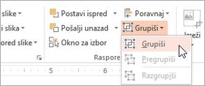 Izbor grupe na meniju grupe