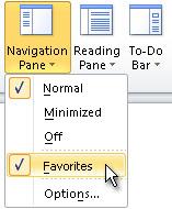 """Meni """"Okno za navigaciju"""""""