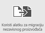 Korišćenje alatki za migraciju nezavisnih proizvođača za migriranje poštanskih sandučića u Office 365