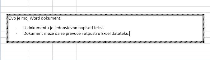 Ovaj ugrađeni objekat je Word dokument.