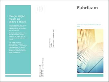 Predložak brošure u usluzi PowerPoint Online