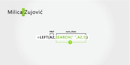 Formula za odvajanje prvi put i prezime sa crticom