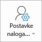 "Dugme ""postavke Outlook naloga"""