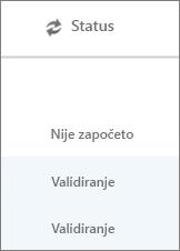 """Stranica """"Migracija podataka"""" prikazuje status migracija za svakog korisnika"""