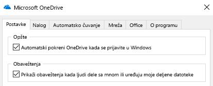 Da biste onemogućili sva obaveštenja za deljenu OneDrive datoteke u postavkama aplikacije OneDrive i ih isključite.