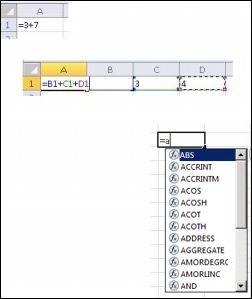Kreiranje formula na različite načine