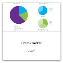 Izaberite ovu opciju da biste dobili predložak fitnes tragača.