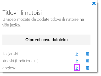 O365 video titlovi za preuzimanje