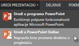 Otvori u programu PowerPoint Online