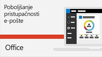 Video o poboljšanju pristupačnosti e-pošte.