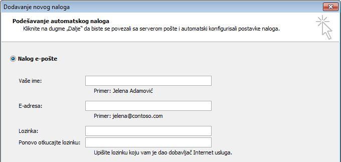 Outlook 2010 – dodavanje imena i e-adrese
