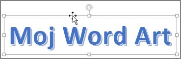 WordArt oblik sa pokazivačem miša u obliku ukrštenih strelica